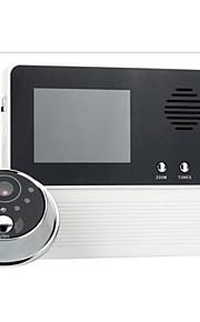 tre forstørrelse video doorphone skærm video intercom dørklokken monitor