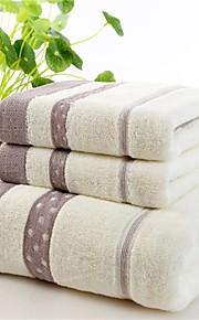 "1 Piece Full Cotton  Bath Towel 55"" by 27"" Stripe Pattern Super Soft"