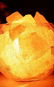 Himalaya salt krystal europæiske dekorative lille lampe kreativ soveværelse varme nightlights