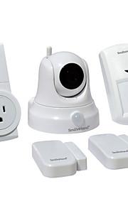 smainhand maison securuty kit système paquet de 5 (1 wifi caméra + 1 wifi socket +1 capteur de mouvement +2 porte / capteur fenêtre)