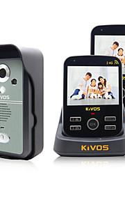 KIVOS doorbell trådløs video dørklokken hjem to træk to kamera videoovervågning låse