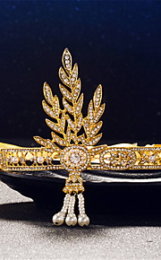 Women's / Flower Girl's Rhinestone / Alloy Headpiece-Wedding / Special Occasion Tiaras 1 Piece Silver / Gold