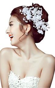 Women's Pearl Headpiece-Wedding Hair Stick 1 Piece White Flower