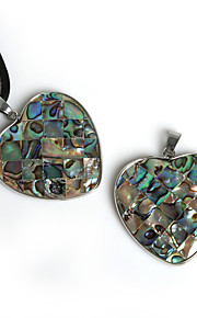 Pendentifs Coquillage Heart Shape comme image / Nactural 1Pc
