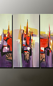 Hand-Painted Abstract Landscape Modern,Three Panels Canvas Oil Painting