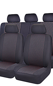11 Pcs Full Set Jacquard Cloth 75G Black Mesh Complex Universal Auto Seat Cover