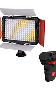 HYOE160 LED Light with Flash Light Grip Handle for Camera
