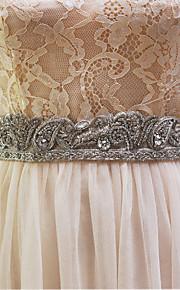Faixa Elástica Casamento Faixa-Miçangas / Imitação de Pérola Feminino 98 ½polegadas(250cm) Miçangas / Imitação de Pérola