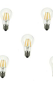 4W E26/E27 Ampoules à Filament LED A60(A19) 4 COB 360lm lm Blanc Chaud / Blanc Froid Gradable / Décorative AC 100-240 / AC 110-130 V5