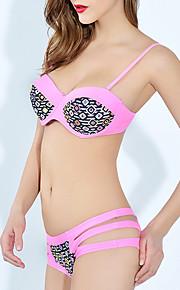 De las mujeres Bikini-MonocolorBandeau-Poliéster