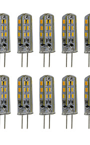 3W G4 LED à Double Broches T 24 SMD 3014 300 lm Blanc Chaud / Blanc Froid Décorative DC 12 V 10 pièces