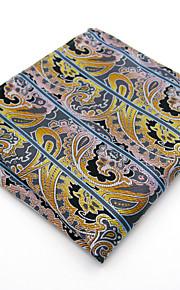 Men Paisley Multicolor 100% Silk  Pocket Square Business Dress