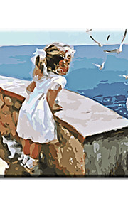 Wall Paint Pictures Painting By Numbers Of Little Girl Hand Painted Oil Painting Home Decor For Living Room