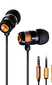 legering bas hovedtelefon øre hovedtelefon wire med hvede dt-202