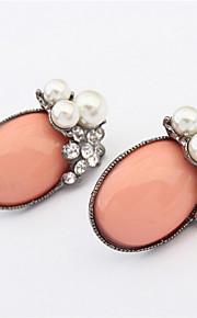 Pendiente Pendientes Stud Resina / Perla Artificial / Aleación Perla Artificial / Diamantes Sintéticos De mujeres