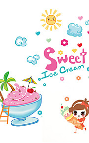Wall Stickers Wall Decals Style Cold Drink Ice Cream PVC Wall Stickers