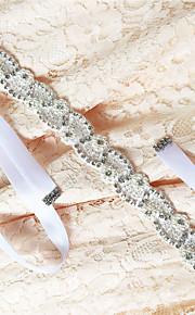 Satin Wedding / Party/ Evening / Dailywear Sash - Beading / Appliques / Pearls / Crystal / Rhinestone Women's Sashes