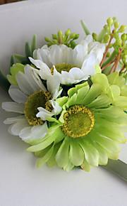 Wedding Flowers Hand-tied Lilies / Peonies Wrist Corsages Wedding Green Satin