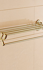 Mensola del bagno / Ti-PVD / A muro /24.4*8.6*5.9 inch /Ottone /Moderno /62CM 22CM 2.2KG