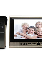 KIVOS infrarød sensing dørklokken 7 tommer trådløse visuelle intercom dørklokke overvågning kamera vandtæt lås