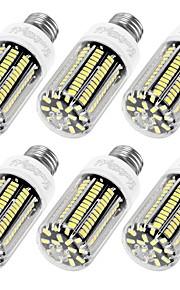 12W E14 / E26/E27 Ampoules Maïs LED T 136 SMD 5733 1100 lm Blanc Chaud / Blanc Froid Décorative AC 100-240 V 6 pièces