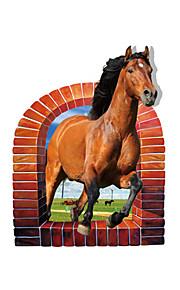 Dieren Wall Stickers 3D Muurstickers Decoratieve Muurstickers,PVC Materiaal Wasbaar / Verwijderbaar / Verstelbaar Huisdecoratie