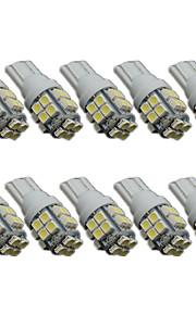 10stk t10 20smd 1206 hvide bil kile LED lys auto nummerplade clearance lampe læsning pære (DC12V)