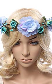 Women's Polyester / Fabric Headpiece-Wedding / Outdoor Handmade Flowers Birdal Wreaths 1 Piece