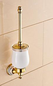 Toiletbørsteholder / Badeværelsesgadget / Ti-PVD / Vægmonteret /5.1*2.36*14.96 inch /Messing /Neoklassisk /13cm 6cm 0.65KG