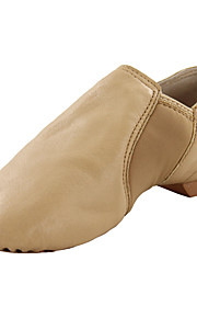 Kids' Dance Shoes Leatherette Leatherette Jazz / Dance Boots Flats Flat Heel Professional / Indoor Black / Brown