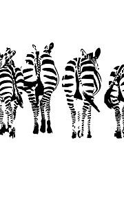 Животные Наклейки Простые наклейки Декоративные наклейки на стены,vinyl материал Съемная Украшение дома Наклейка на стену