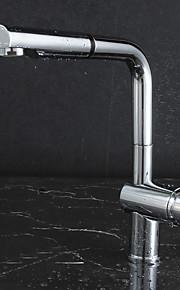 Moderne Uttrekkbar / pull-down Vannrett Montering Træk-udsprøjte with  Keramisk Ventil Enkelt Håndtak Et Hull for  Krom , Kjøkken Kran