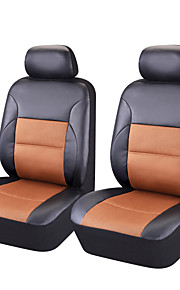6PCS 2016 Pvc Sandwich Front 2 Universal Car Seat Covers