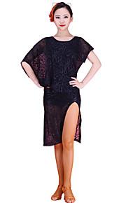 Latin Dance Dresses Women's Training Chinlon / Lace Lace 1 Piece