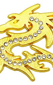 autoadesivo dell'automobile, personalità con diamante del metallo contro metallo di buon auspicio adesivi drago