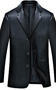 남성의 자켓 퓨어 긴 소매 캐쥬얼 폴리에스테르,블랙 / 블루