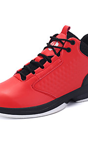 Men's Athletic Shoes Fall / Winter Comfort PU Outdoor / Athletic / Casual Flat Heel Lace-up Blue / Black and Red / Black and White