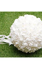 Bouquet sposa Tondo Rose Bouquet Matrimonio Raso 32cm