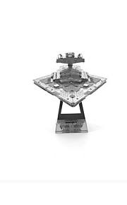 Rompecabezas Puzzles 3D Bloques de construcción Juguetes de bricolaje Buque de guerra 1 Metal Plata juguete del juego