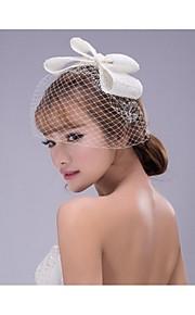 Dame Nett Headpiece-Bryllup Blomster 1 Deler Hvit Annerledes 48cm