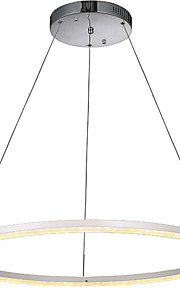 Modern LED Acrylic Pendant Lighting Ceiling Chandeliers Light for Hotel Bar with Round Ring 32W CE FCC ROHS