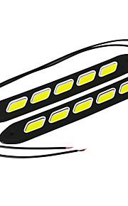 Jiawen 4w flexibel 5-cob voiture dagrijlichten (dc 12v / 2 stuks)