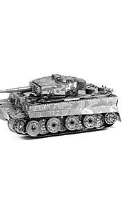 Rompecabezas Puzzles 3D Bloques de construcción Juguetes de bricolaje Tanque 1 Metal Plata juguete del juego