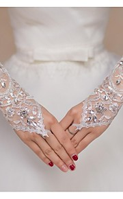 Elbow Length Fingerless Glove Lace Bridal Gloves Spring / Summer / Fall lace