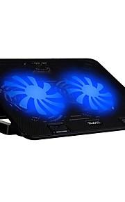 2 fans ergonomisch verstelbaar koeler cooling pad met standaard houder voor laptop notebook met snelheid controll