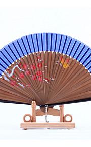 Brown Fan Frame Printing Fan Random Pattern(Set of 1)