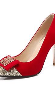 Women's Heels Summer / Pointed Toe Fleece Office & Career / Casual Stiletto Heel Sequin Black / Blue / Red Others