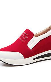 Черный / Красный-Женский-Для прогулок / На каждый день / Для занятий спортом-Дерматин-На платформе-На танкетке / На платформе / Удобная