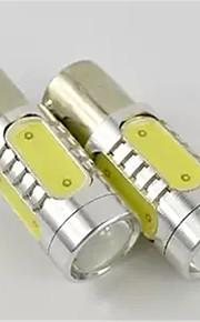 2pcs 7.5W 1156 de color blanco llevada de vuelta bombilla de la lámpara de luz de freno del freno de la cola de la señal (dc12v)