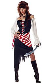 Pirates of the Caribbean-Svart-Kjole / Hatt-Cosplay Kostumer- tilKvinnelig